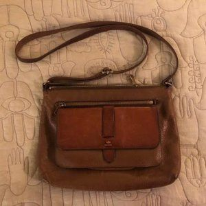 Fossil Kinley Leather Crossbody - Tan/Brown